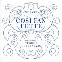 Wolfgang Amadeus Mozart (1756-1791): Cosi fan tutte (Ausz.), CD
