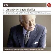 Jean Sibelius (1865-1957): Eugene Ormandy conducts Sibelius, 8 CDs