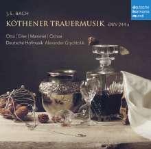 """Johann Sebastian Bach (1685-1750): Köthener Trauermusik BWV 244a """"Klagt, Kinder, klagt es aller Welt"""", CD"""
