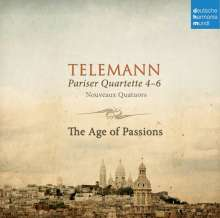 Georg Philipp Telemann (1681-1767): Pariser Quartette Nr.4-6, CD