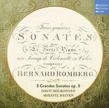 "Bernhard Romberg (1767-1841): Cellosonaten op.5 Nr.1-6 ""Grande Sonatas"", CD"