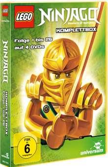 LEGO Ninjago (Komplette Serie mit 2 TV Specials), 4 DVDs