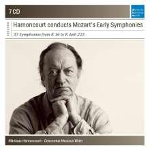 Wolfgang Amadeus Mozart (1756-1791): Frühe Symphonien (Nikolaus Harnoncourt dirigiert), 7 CDs