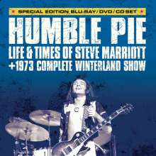 Steve Marriott: Humble Pie: Life & Times Of Steve Marriott + 1973 Complete Winterland Show (Special Edition), 1 CD, 1 Blu-ray Disc und 1 DVD