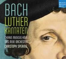 Johann Sebastian Bach (1685-1750): Kantaten BWV 2,4,7,14,36,38,61,62,80,91,121,125,126 (Luther-Kantaten), 4 CDs