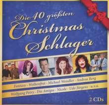 Die 40 größten Christmas-Schlager, 2 CDs
