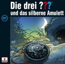 Die drei ???: Die drei ??? (Folge 187) - und das silberne Amulett (180g) (Limited-Edition), 2 LPs