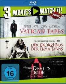 Der Exorzismus der Emma Evans / The Vatican Tapes / At the Devil's Door (Blu-ray), 3 Blu-ray Discs