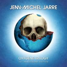 Jean Michel Jarre: Oxygene Trilogy (40th Anniversary) (180g) (Limited-Edition-Box-Set) (Clear Vinyl), 3 LPs, 3 CDs und 1 Buch