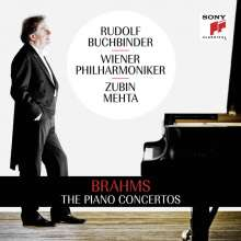Johannes Brahms (1833-1897): Klavierkonzerte Nr.1 & 2, 2 CDs