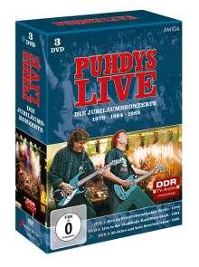 Puhdys: Die Jubiläumskonzerte, 3 DVDs