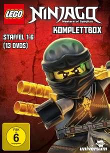 LEGO Ninjago Staffel 1-6 (Komplettbox), 13 DVDs