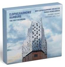 Johannes Brahms (1833-1897): Symphonien Nr.3 & 4 (Deluxe-Edition der ersten Aufnahme aus der neuen Elbphilharmonie Hamburg mit Blu-ray), 2 CDs