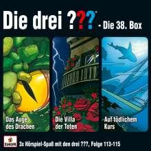 Die drei ??? - Box 38 (Folgen 113-115) (drei Fragezeichen), 3 CDs