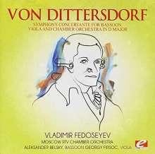 Karl Ditters von Dittersdorf (1739-1799): Sinfonia concertante D-Dur, CD