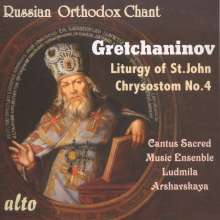 Alexander Gretschaninoff (1864-1956): Liturgy of St.John Chrysostom op.13,4, CD