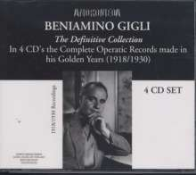 Benjamino Gigli- The Definitive Collection, 4 CDs