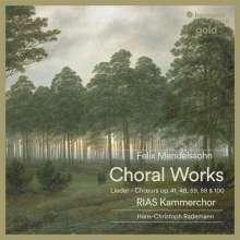 Felix Mendelssohn Bartholdy (1809-1847): Weltliche Chorlieder, CD