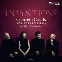 """Ludwig van Beethoven (1770-1827): Sämtliche Streichquartette Vol.1 """"Inventions"""", 3 CDs"""