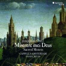 Josquin Desprez (1440-1521): Miserere mei Deus - Trauermotetten & Klagen, CD