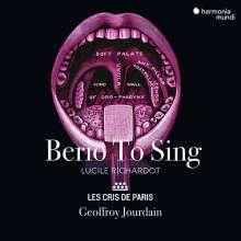 Luciano Berio (1925-2003): Berio to sing, CD