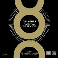 Orchestre National De France - 80 Ans de Concerts Inedits, 8 CDs