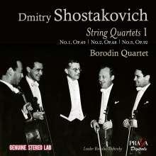 Dmitri Schostakowitsch (1906-1975): Streichquartette Vol.1, CD