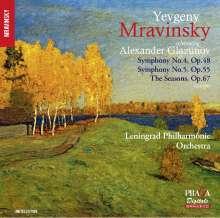 Alexander Glasunow (1865-1936): Symphonien Nr.4 & 5, Super Audio CD