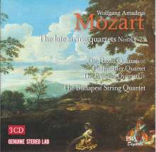 Wolfgang Amadeus Mozart (1756-1791): Streichquartette Nr.14-23, 3 CDs