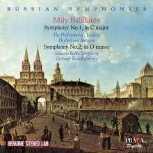 Mily Balakireff (1837-1910): Symphonien Nr.1 & 2, CD