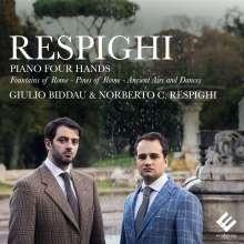 Ottorino Respighi (1879-1936): Werke für Klavier 4-händig, CD