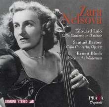 Zara Nelsova - Edouard Lalo / Samuel Barber / Ernest Bloch, CD