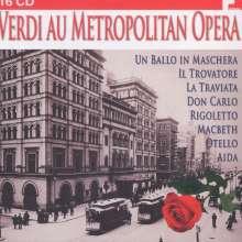 Giuseppe Verdi (1813-1901): Verdi au Metropolitan Opera (8 Operngesamtaufnahmen), 16 CDs