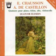 Ernest Chausson (1855-1899): Klavierquartett op.30, CD
