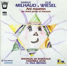 "Darius Milhaud (1892-1974): Cantate ""Ani Maamin"", CD"