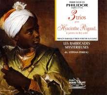 """Pierre Dancian Philidor (1681-1731): Trios für 2 Flöten & Bc Nr.2,3,5  """"3 Trios pour Hyacinthe Rigaud"""", CD"""