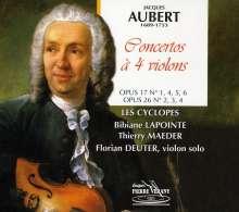 Jacques Aubert (1689-1753): Konzerte für 4 Violinen, CD