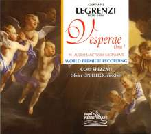 "Giovanni Legrenzi (1626-1690): Vesperae op.1 ""In Laudem Sanctissimi Sacramenti"", CD"