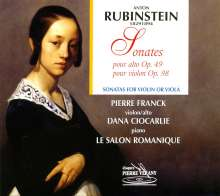 Anton Rubinstein (1829-1894): Sonate für Violine & Klavier Nr.3 op.98, CD