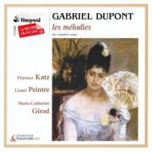 Gabriel Dupont (1878-1914): Lieder, CD