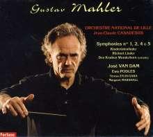 Gustav Mahler (1860-1911): Symphonien Nr.1,2,4,5, 6 CDs