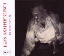 Hans Knappertsbusch - In Memoriam, 4 CDs