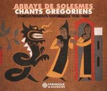 Abbaye De Solesmes - Chants gregoriens (Historische Aufnahmen 1930-1960), 3 CDs