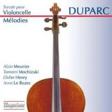 Henri Duparc (1848-1933): Sonate für Cello & Klavier, CD