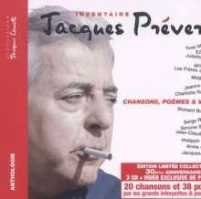 Jacques Prévert: Inventaire: Chansons, Poemes & Video, 3 CDs
