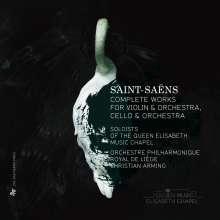 Camille Saint-Saens (1835-1921): Sämtliche Werke für Violine & Orchester, Cello & Orchester, 3 CDs
