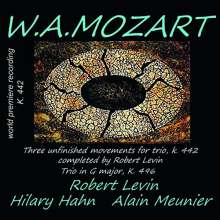 Wolfgang Amadeus Mozart (1756-1791): 3 Sätze für Klaviertrio KV 442 (vervollständigt von Robert Levin), CD