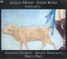 """Joseph Kosma (1905-1969): Lieder """"Et puis apres..."""", CD"""