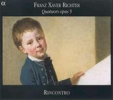 Franz Xaver Richter (1709-1789): Streichquartette op.5 Nr.1-3, CD
