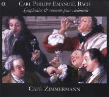 Carl Philipp Emanuel Bach (1714-1788): Symphonien Wq.182 Nr.1,3,5,6, CD